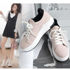 Freesia - Platform Lace Up Sneakers