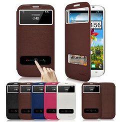Kindtoy - Coolpad S6 / 9190l Faux Leather Flip Case