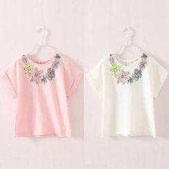 Seashells Kids - Kids Floral Print T-Shirt