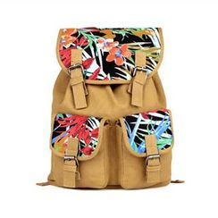 Mr.ace Homme - Printed Panel Canvas Backpack