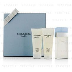 Dolce & Gabbana - Light Blue Gift Coffret: Eau De Toilette Spray 100ml/3.3oz + Body Cream 100ml/3.3oz + Bath and Shower Gel 100ml/3.3oz