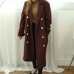 Dodostyle - Wool Blend Double-Breasted Coat