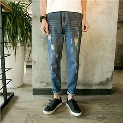 Soulcity - Straight Fit Ripped Jeans
