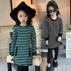 Pegasus - Kids Striped Long Sleeve Dress
