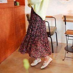 Cherryville - Tiered Maxi Chiffon Skirt
