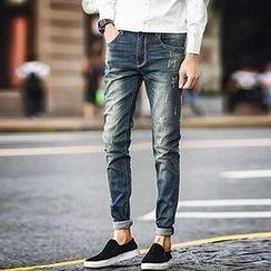 Zeesebon - 做舊修身牛仔褲