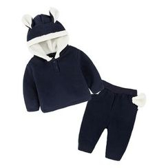 MOM Kiss - Baby Set: Ear Hoodie + Pants