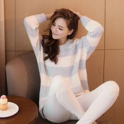 Tokyo Fashion - Striped Loose-Fit Sweater