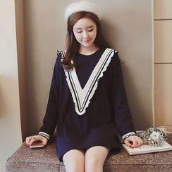 Munai - Long-Sleeve Striped Dress