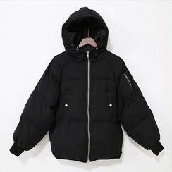 Mr. Cai - Hooded Padded Zip Jacket