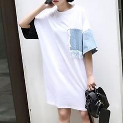 Cloud Nine - Panel T-Shirt Dress