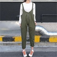 CHICFOX - Zip-Up Front Jumper Pants