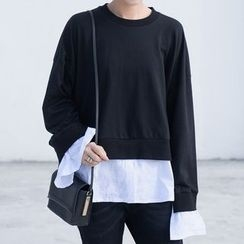 Ultra Modern - Mock Two Piece Pullover
