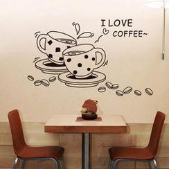 乐宅 - 咖啡印花墙贴