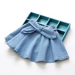 Seashells Kids - Kids Bow Ruffle Denim Skirt