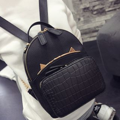 Rosanna Bags - Metal Cat Ear Trim Backpack