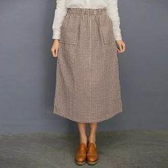 Aigan - 細格中裙