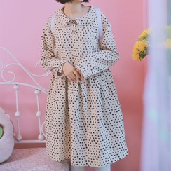 Moricode - Floral Print Long-Sleeve Dress