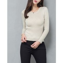 GUMZZI - Glitter Knit Top