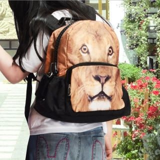 Bistar - Lion Printing Large Zipper 12 inch Backpack