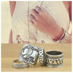 Glamiz - Set of 4: Elephant Rings