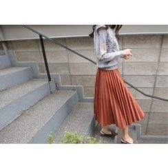Hello sweety - Accordion-Pleated Maxi Skirt
