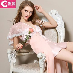 Charming Lover - Lace-Panel Nightdress