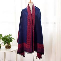 RGLT Scarves - Color-Block Fringe Scarf