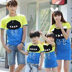Igsoo - Parents and Kids Print T-Shirt / T-Shirt Dress