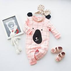 MOM Kiss - 婴儿动物长袖连体服