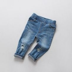 Rakkaus - Distressed Slim-Fit Jeans