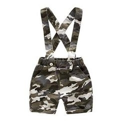 Kido - Kids Distressed Camouflage Print Jumper Shorts
