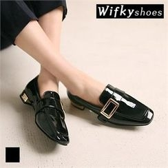 Wifky - Faux-Leather Squared-Toe Patent Loafers