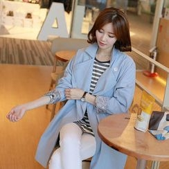 CLICK - Oversize Drop-Shoulder Trench Coat