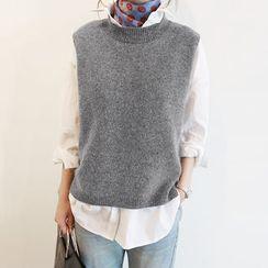 NANING9 - Wool Blend Sleeveless Knit Top