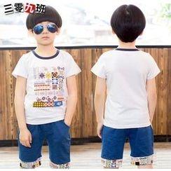 三零九班 - 兒童套裝: 印花 T 裇 + 短褲