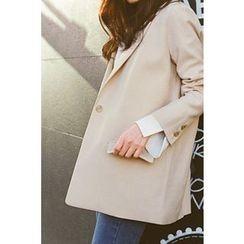 CHERRYKOKO - Notched-Lapel One-Button Blazer