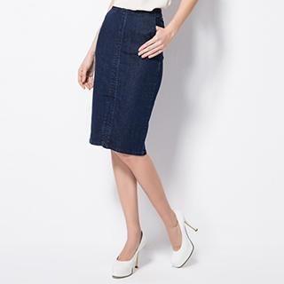 O.SA - Denim Pencil Skirt