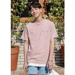 GERIO - Pocket-Front Colored T-Shirt