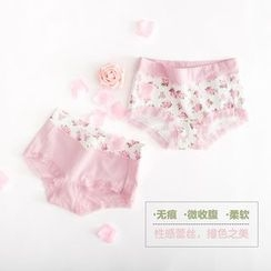 LA SHOP - Set of 2: Floral Print Panties