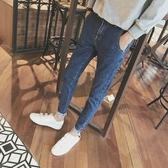 Jimboy - 水洗修身牛仔褲