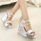 Mancienne - Glitter Wedge Sandals