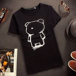 Gurun Vani - Bear Print Short Sleeve T-Shirt