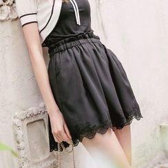 Tokyo Fashion - Lace-Trim Culottes