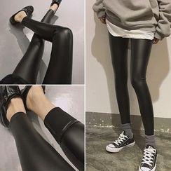 Moon City - Faux Leather Leggings