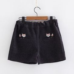 Piko - Fox Embroidered Shorts