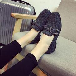 Chryse - 金属饰扣乐福鞋