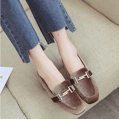 Shoeland - 植毛绒乐福鞋
