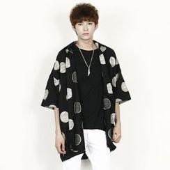 Rememberclick - Pattern-Printed Short-Sleeve Shirt