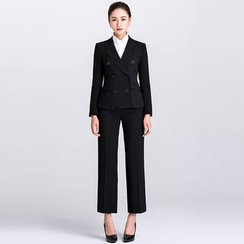 Eleganza - Set: Double-Breasted Blazer + Dress Pants
